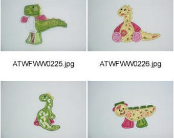 Applique-Dinos ( 11 Machine Embroidery Designs from ATW ) XYZ17E