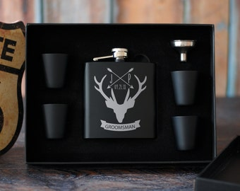 Personalized Groomsmen Gift Box, Best Man Gift Box, Groomsmen Flask Set, Will You Be My Groomsman, Personalized Gift Set, Wedding Party