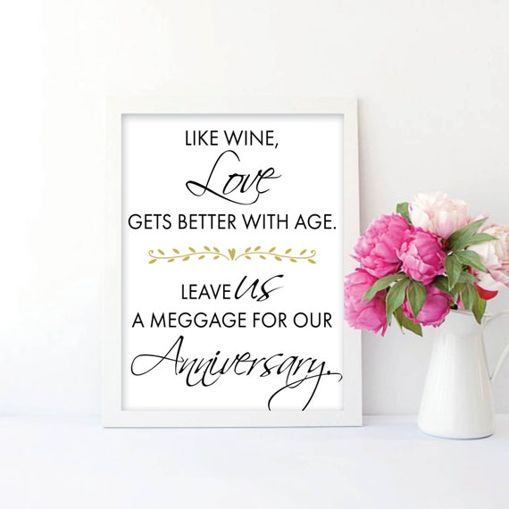 Wedding Decoration Like Wine Love Gets Better With Age