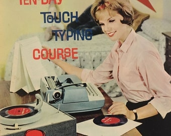 1961 Vintage Smith-Corona Ten Day Touch Typing Course Books 5 LP Records