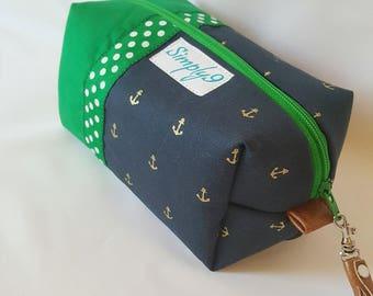 Nautical Makeup Bag - Anchor Makeup Bag - Make up Bag - Cosmetic Bag - Makeup Organizer - Makeup Storage - Makeup Case - Toiletry Bag - Gift