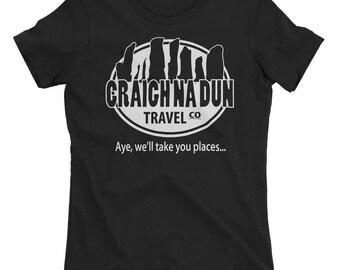 Craigh Na Dun Travel Company - Jamie fraser - outlander parody - outlander - claire fraser - outlander series - tumblr shirts - sassenach