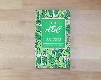 Vintage 1958 ABC of Salads, Ruth McCrea Peter Pauper Press Hardcover Avocado Grapefruit Asparagus Cheese Blackberry Peas Dessert Fruit Lemon