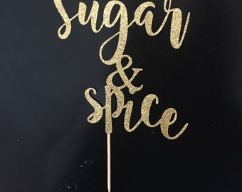 Sugar and Spice Cake Topper, Baby Shower Cake Topper, Girl Baby Shower, Baby Shower Decor