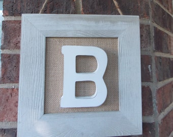 "Initial ""B"" Wall Plaque"