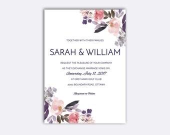 No. 3   Printable 5 x 7 Wedding Invitation