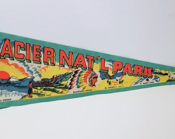 Glacier National Park - Vintage Pennant
