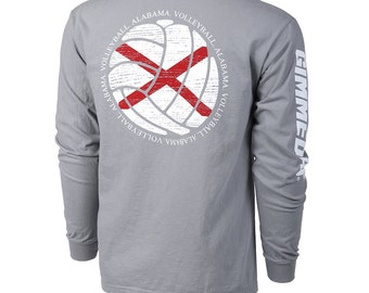 State of Mine: Alabama Volleyball Long Sleeve T-shirt, Volleyball Shirts, Volleyball Gifts, AL Volleyball - Free Shipping!