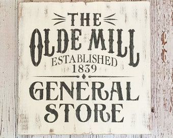 General Store Sign, Rustic Farmhouse Sign, Distressed Sign, Fixer Upper Decor, Wall Hanging