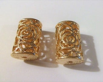Gold plated filigree gold plated tube