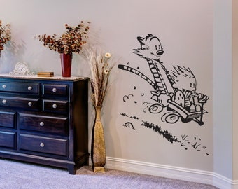 Calvin and Hobbes - Vinyl Wall Decal