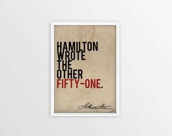 """Hamilton """"Non-Stop"""" Poster - 11x17"""