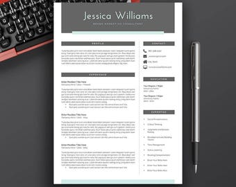 Professional Resume Template, CV Template, Cover Letter, Word, Creative Resume, Modern Professional Resume, Instant Download Resume, Jessica