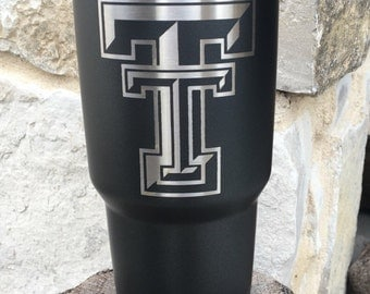 Texas Tech Etch - NEW Authentic YETI or Ozark Rambler Custom Powder Coat Dipped
