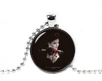 Regina Necklace Once Upon a Time Pendant Evil Queen Regina Pendant Regina Photo Glass Pendant