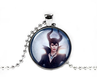 Once Upon a Time Maleficent Necklace Maleficent Pendant Cosplay Jewelry Fandom Jewelry