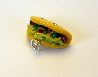 Taco Charm - Polymer Clay