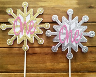 Snowflake Cake Topper, Snowflake Birthday Cake, Winter Onederland, Snowflake Baby Shower, Snowflake Holiday Party, Winter Birthday
