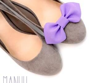Light purple bows shoe clips - shoe bows Manuu, shoe accessories, handmade bows,