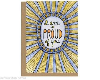 I Am So Proud of You Card, Graduation Card, Congrats for Friend, Congrats Grad, Congratulations Card, College Graduation, New Job Card