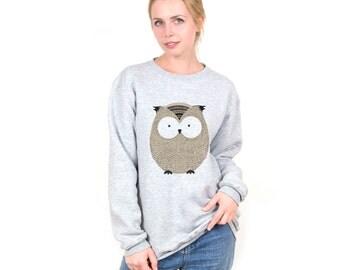 Owl Sweater Owl Sweatshirt with Owl Sweatshirt for Mens Women Sweater Cute Sweatshirt Animal Sweater with Animal Sweatshirt Graphic PA3004