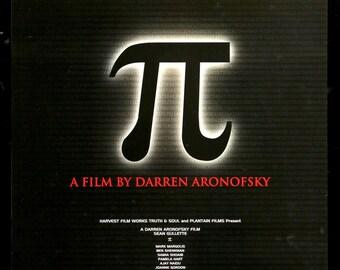 Pi (1998) Original Unfolded Japanese B2 Movie Poster