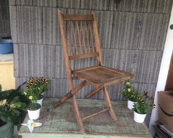 MARKED DOWN  Vintage Wooden Folding Chair