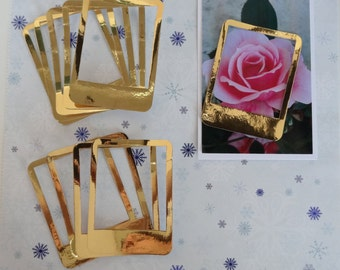 Polaroid frame / frame polaroid / looks gold / gold / set of 10 / set of 10