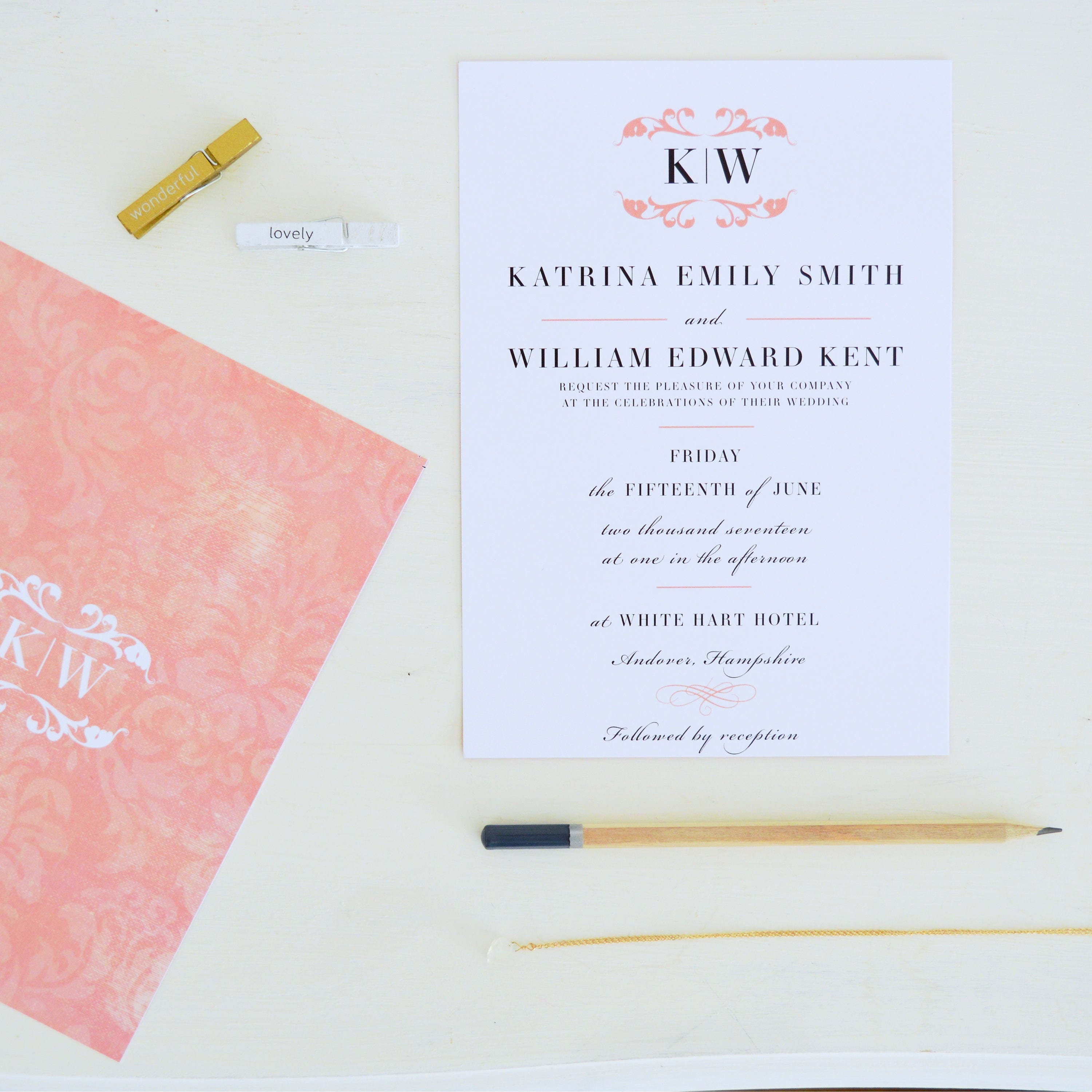 Classic Wedding Invitation and RSVP blush wedding invitations – Classic Wedding Invitation Designs