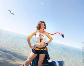 Yuna Gunner Final Fantasy X2 Cosplay Costume Game Dress  FF Suit Custom Made Japanese Costume