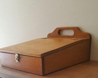 Vintage Portable Desk Solid Wood Lap Desk