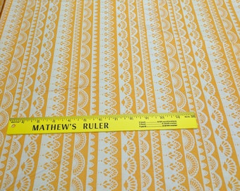 Yellow Striped Design Cotton Fabric by Riley Blake