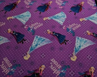 Frozen-Sisters Forever Cotton Fabric