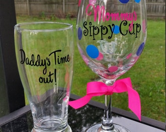 Mommy and Daddy's cups set