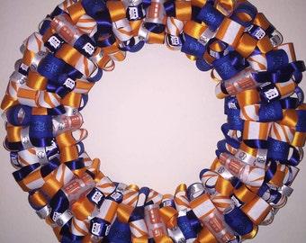 Detroit Tigers Ribbon Wreath
