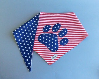 Patriotic dog bandana for 4th of july  Nice scarf for puppies American pet outfit Independence day Accessories Pet gift idea Labor day