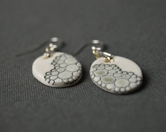 "Ears ""Ephemeral"", porcelain, ceramic jewel earrings"