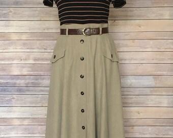 Maxi Dress | Women's Maxi Dress | Black Maxi Dress | Khaki Dress | Striped Dress | 90s Dress | Maxi Dress with Sleeves | Casual Dress