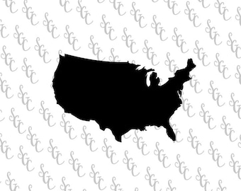 Reusable Stencil - Map of USA - Many Sizes to Choose from!