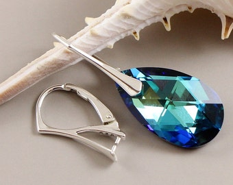 Luxury Earwires sterling silver leverbacks with pinch bail for Swarovski HIGH QUALITY choose quantity