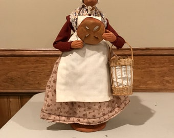 Santon De Provence Hand Crafted Figure Lady Selling Bread Bakers Wife, S Jouglas