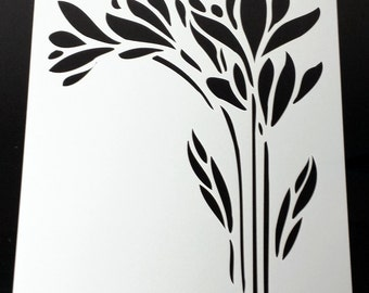 Flower Stencil No.1, High Quality, Reusable, Various Sizes, Made To Order Just For You...