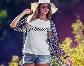 Femme Shirt. French Wife Shirt. Wife. Wifey. Wife To Be. T-shirt.