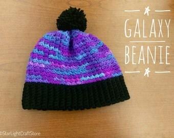 Galaxy Beanie/Beanie Hat with Pom Pom