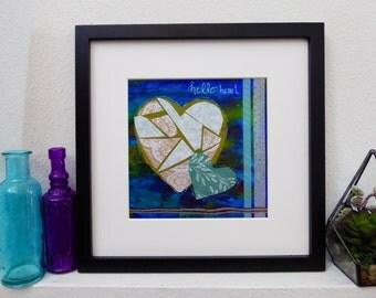 Mixed Media Photo Print Giclee Art - Hello Heart