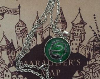 Harry Potter Slytherin pendant necklace