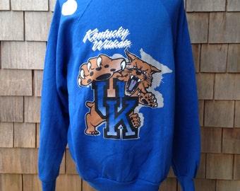 Vintage 90s deadstock UNIVERSITY of KENTUCKY WILDCATS Sweatshirt - Large