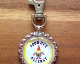 Food Dye Allergy, allergies, allergy tags, allergy alert tags, allergy safeguards, food allergy, allergy kids central