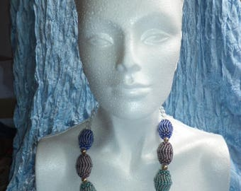 Beaded Statement Necklace. Free Shipping