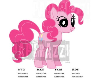 Pinkie Pie SVG DXF FCM Electronic cutting files for Cricut Design Space - Silhouette Studio
